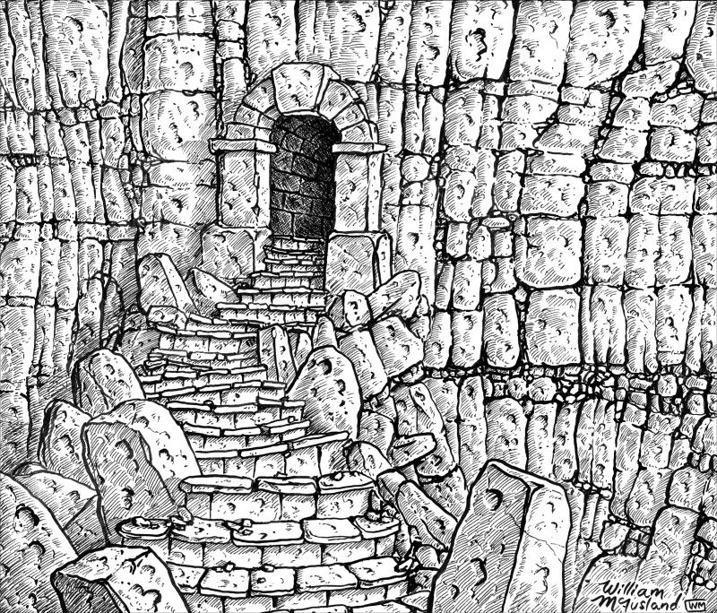 Dungeon Entrance by William McAusland (Outland Arts)