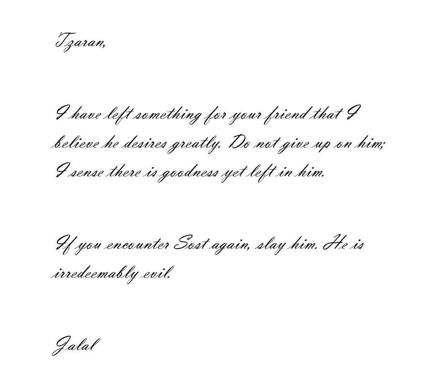 Tzaran Letter